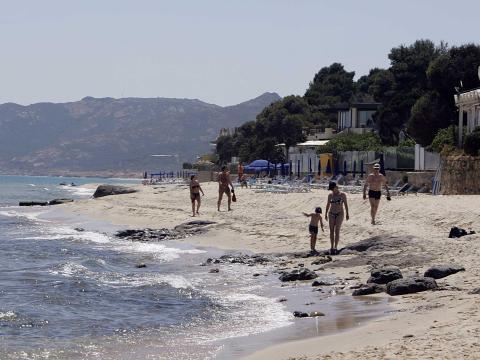 Una playa en Cerdeña.