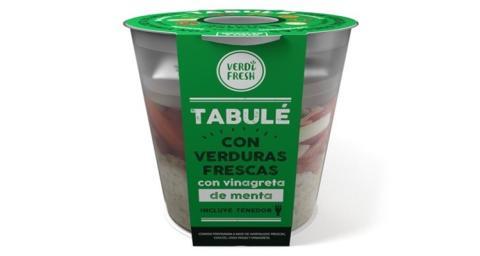 Tabule con verduras frescas y vinagreta de meta de Mercadona