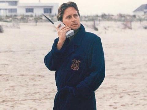 Michael Douglas como Gordon Gekko.