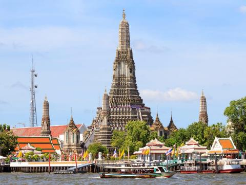 El templo de Wat Arun en Bangkok.