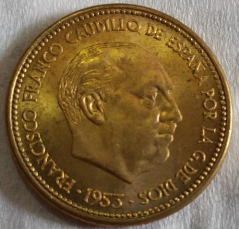 25 pesetas de 1953