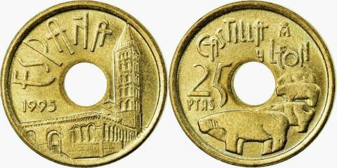 25 pesetas de 1995