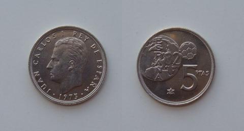 5 pesetas de 1975