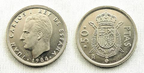 50 pesetas de 1984