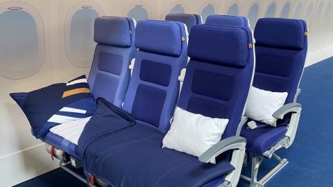 Asiento económico reclinable de Lufthansa