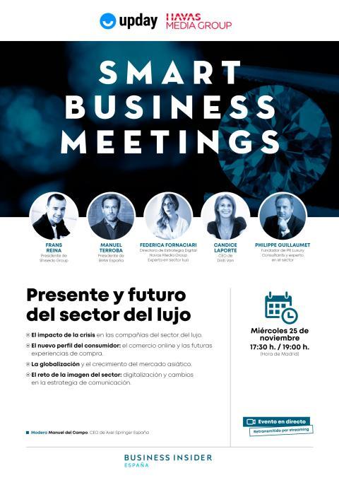 Cartel del Smart Business Meeting del sector del lujo