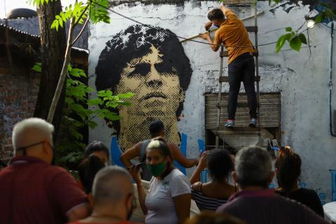 Casa donde Maradona creció, en una villa de Buenos Aires