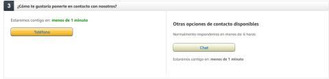 Cómo contactar con Amazon