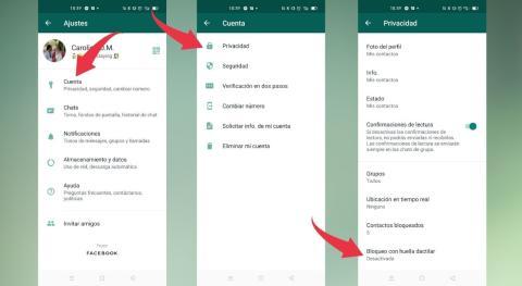 Cómo usar la función de bloqueo con huella dactilar en WhatsApp