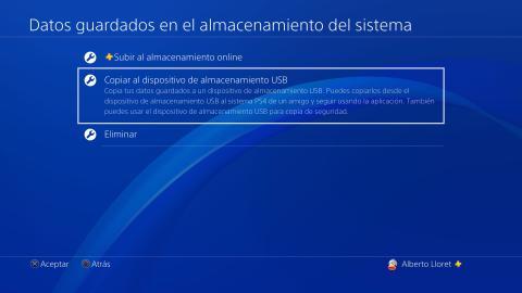 Copiar datos de guardado PS4