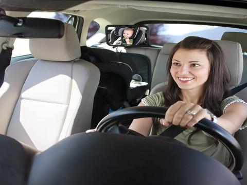 Espejo de coche para bebés y niños