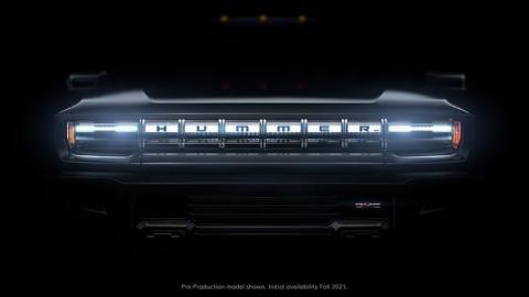 Imagen de adelanto del nuevo GMC Hummer