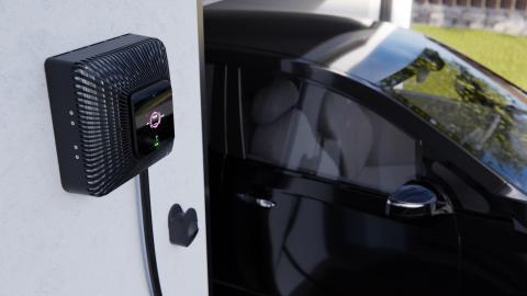 Imagen del cargador bidireccional de vehículo eléctrico Quasar.