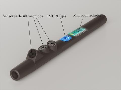 Indicación de los dispositivos que incluye la empuñadura de bastón Egara