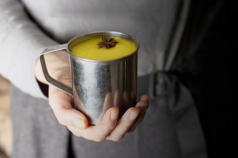 Leche dorada o golden milk