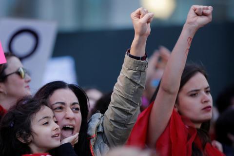 Manifestación feminista en EEUU