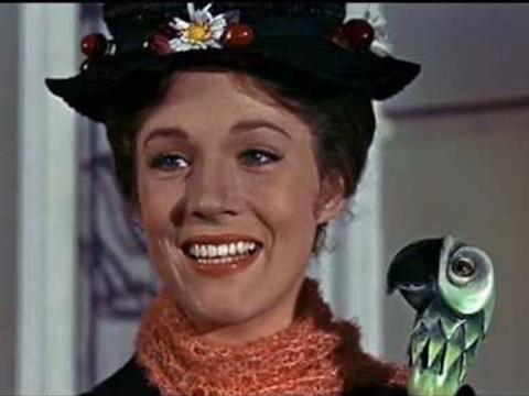Julie Andrews en 'Mary Poppins'.