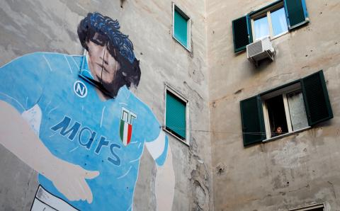 Mural de Maradona en Nápoles