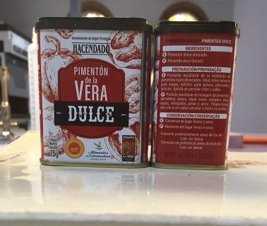 Producto de Pimentón de la Vera Dulce Hacendado con Lote L150719 retirado por Mercadona por alerta de Salmonella.