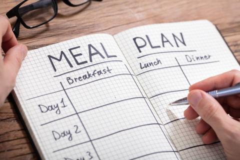 Planificar dieta mediterránea.