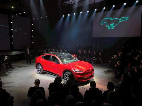 Presentación del Mustang Mach-E en Oslo (Noruega), en noviembre de 2019.