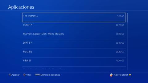 PS4 Almacenamiento ampliado