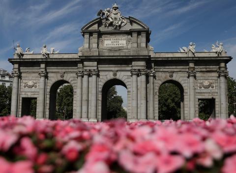 La Puerta de Alcalá, en Madrid.