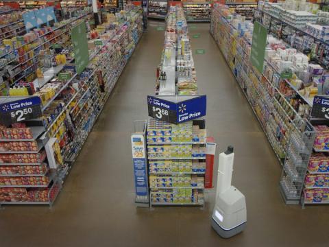 Este es el robot que escaneaba las estanterías de los supermercados Walmart