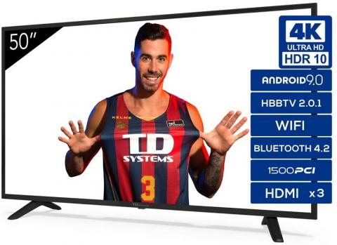 smart tv TD Systems 50 pulgadas