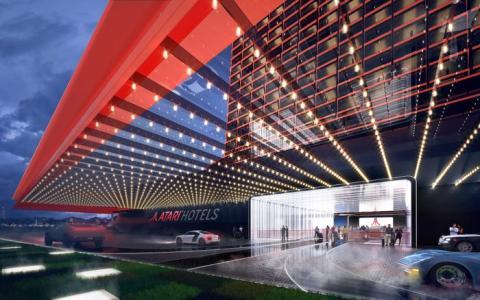 Smith describe la estética de los hoteles como cyberpunk y retro-cool.
