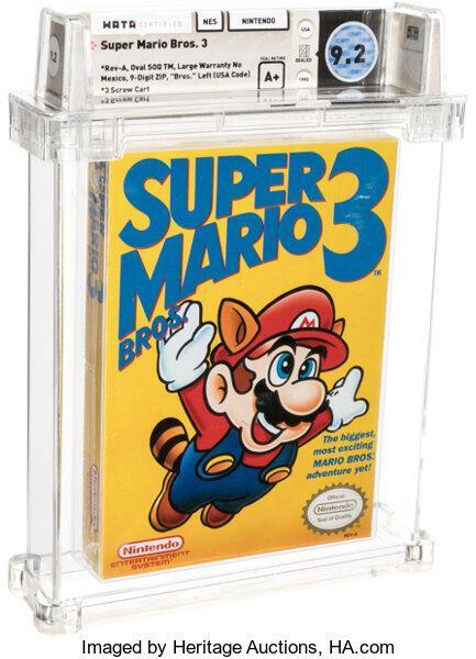 Super Mario Bros 3 subastado.
