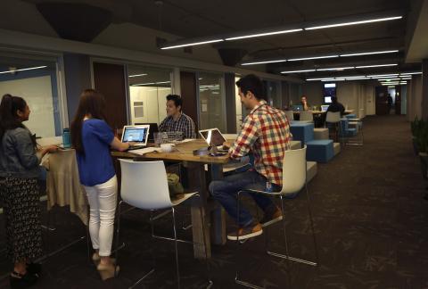 Trabajadores de Twitter en San Francisco