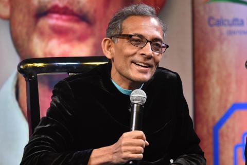 Nobel laureate Abhijit Banerjee at South Club on January 27, 2020 in Kolkata, India.