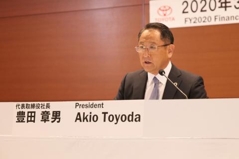 Akio Toyoda, CEO mundial del Grupo Toyota, en la presentación de resultados del segundo trimestre (año fiscal nipón).