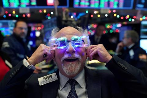 Año nuevo en la Bolsa de Nueva York.