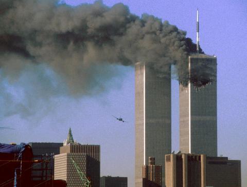 Atentado a las Torres Gemelas, Nueva York, 11 de septiembre de 2001.