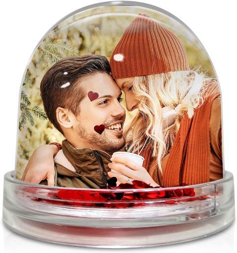 Bola de Navidad con corazones