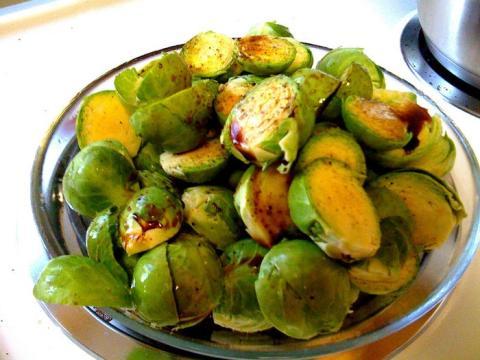 Las coles de Bruselas son ricas en vitamina C.