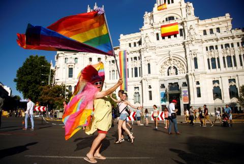 Desfile del Orgullo en Madrid.