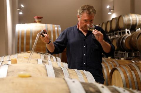 elaboración de vino.