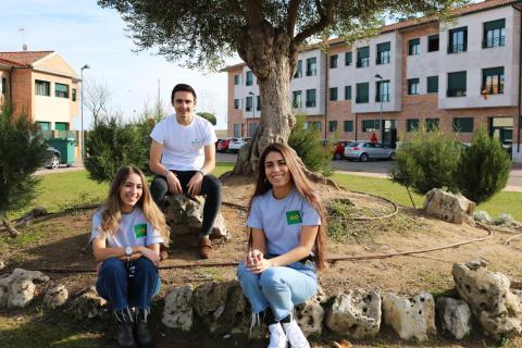 El equipo de Hobeen: Jimena, Mario y Mar (de izquierda a derecha).