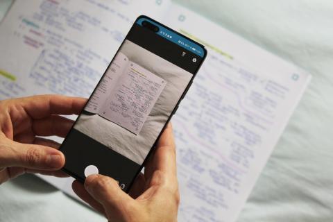 Escaneando con los cuadernos Notebloc.