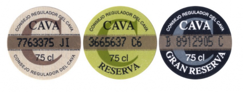 etiquetas cava