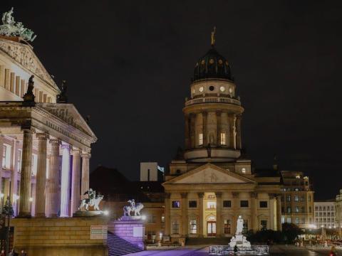 Plaza Gendarmenmarkt en Berlín, Alemania, el 23 de noviembre de 2020.