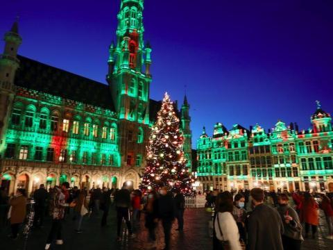 La Gran Plaza de Bruselas, Bélgica, el 24 de noviembre de 2020.