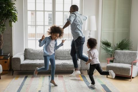 familia bailando, bailar