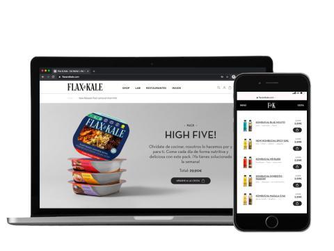 Web de Flax & Kale