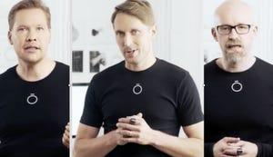 Los fundadores de Oura Petteri Lahtela, Markku Koskela y Kari Kivela