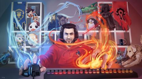 Imagen promocional de Asier (Phobyac en Twitch)