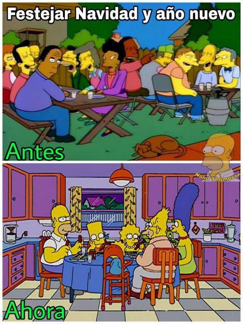 Meme Simpsons Navidad